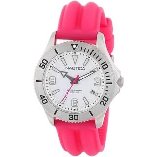 Nautica Women's 'NAC 102' Pink Silicone Watch