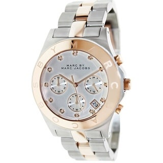 Marc Jacobs Women's 'Rock' Chronograph Crystal Two-Tone Stainless Steel Watch