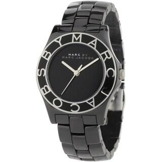 Marc Jacobs Women's 'Blade' Black Ceramic Watch