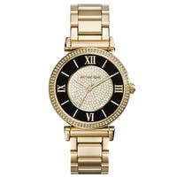69f826f65da5 Michael Kors Women s  Caitlin  Crystal Gold-Tone Stainless Steel Watch