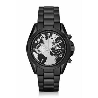 Michael Kors Women's MK6271 'Watch Hunger Stop' Black Stainless Steel Watch