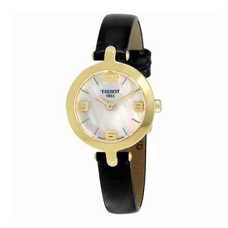 Tissot Women's T0032093611700 'Flamingo' Black Leather Watch