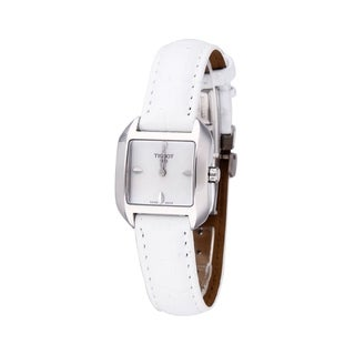 Tissot Women's 'T-Wave' White Leather Watch