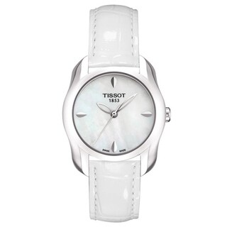 Tissot Women's T0232101611100 'T-Wave' White Leather Watch