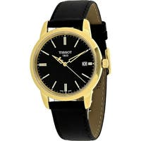 Tissot Women's  'T-Dream' Black Leather Watch