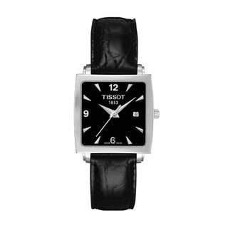 Tissot Women's T0573101605700 'T-Classic Everytime' Black Leather Watch