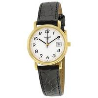 Tissot Women's  'Desire' Black Leather Watch