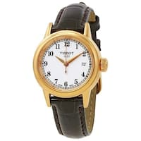 Tissot Women's  'Carson' Brown Leather Watch