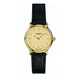 Tissot Women's 'T-Classic' Black Leather Watch