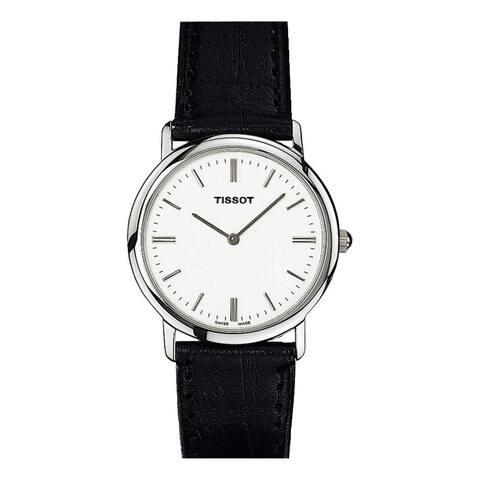 Tissot Women's T57112131 'T-Classic' Black Leather Watch