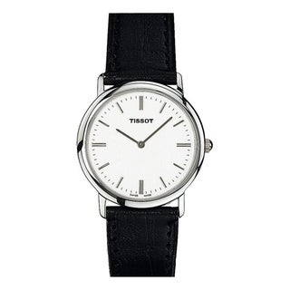 Tissot Women's T57112131 'T-Classic' Black Leather Watch