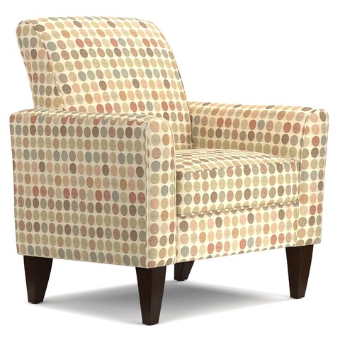 Handy Living Baja Beige Retro Dot Arm Chair