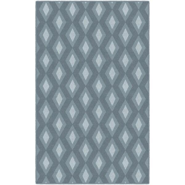 Brumlow Mills Blue Diamonds, Simple Trellis Area Rug BLUE - 3'4 x 5'