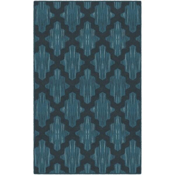 "Brumlow Mills Ikat Moroccan Trellis in Blue, Lattice Area Rug BLUE - 2'6"" x 3'10"""