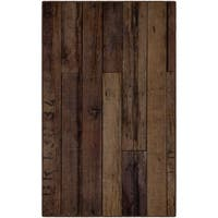 Brumlow Mills Rustic Farmhouse Wood, Antique Wooden Texture Area Rug BROWN - 3'4 x 5'