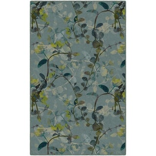 Brumlow Mills Catalina in Blue, Floral Area Rug BLUE - 3'4 x 5'