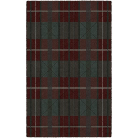 "Brumlow Mills Burgundy and Green Traditional Plaid, Area Rug BURGUNDY - 2'6"" x 3'10"""