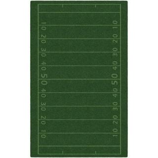 "Brumlow Mills Football Field Accent Rug GREEN - 2'6"" x 3'10"""
