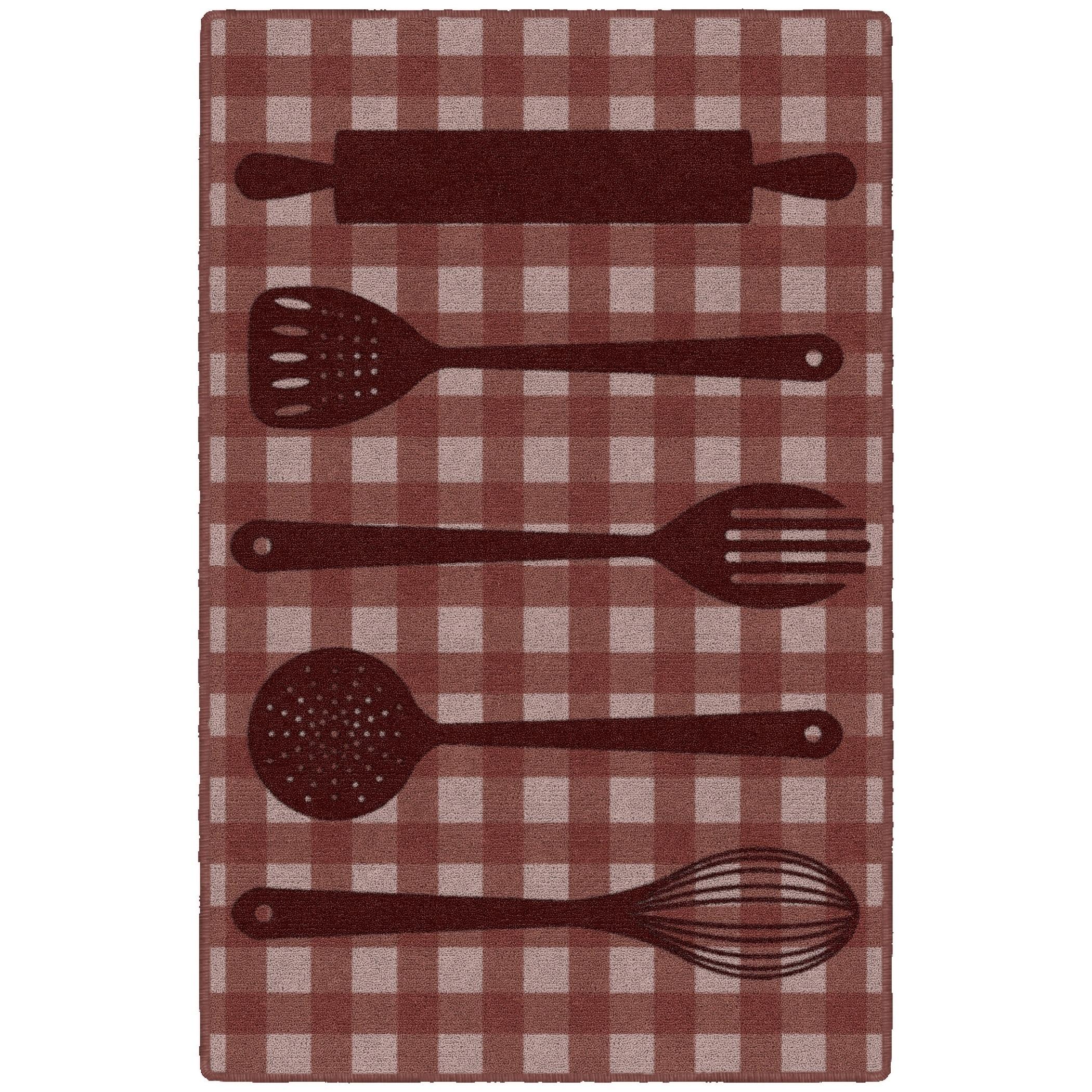 Brumlow Mills Kitchen Utensils in Red, Kitchen Rug RED - 2\'6\