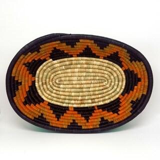 Handmade Banana Fiber Yellow Bagala Basket (Uganda)