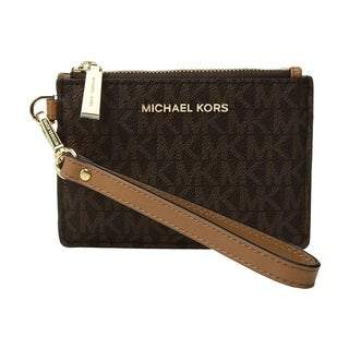 MICHAEL Michael Kors Signature Small Coin Purse Brown