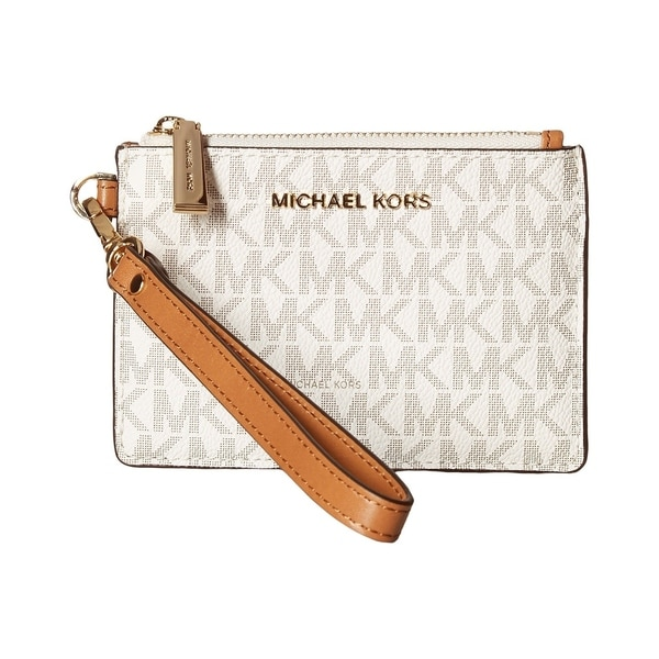 41f138c17535 Shop MICHAEL Michael Kors Signature Small Coin Purse Vanilla - Free ...