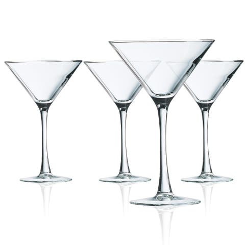 Luminarc Cachet Martini Glasses, Set of 4, 10 ounces - 10 ounces