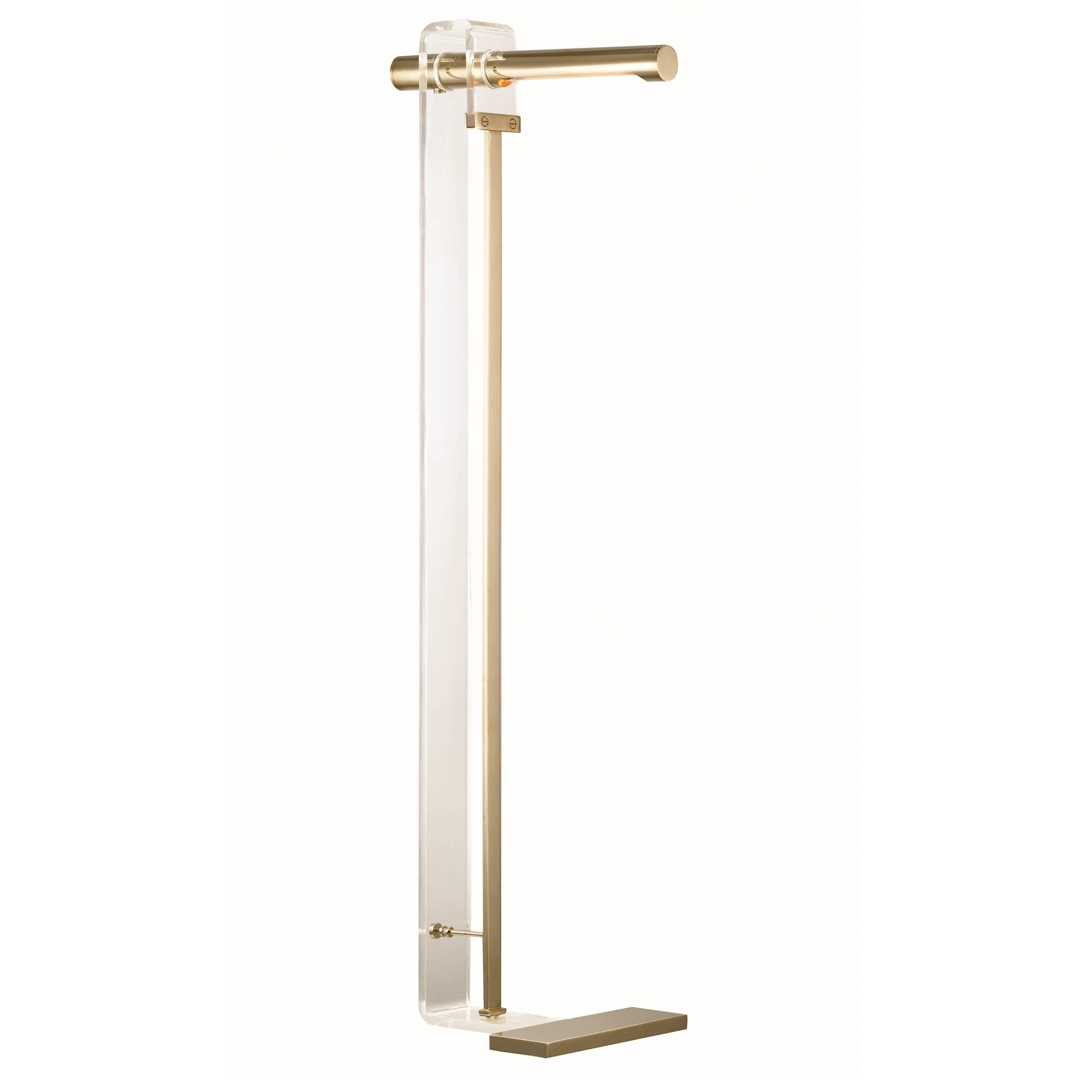 Shop Hudson Valley Hillcrest 1 Light Aged Brass Floor Lamp With