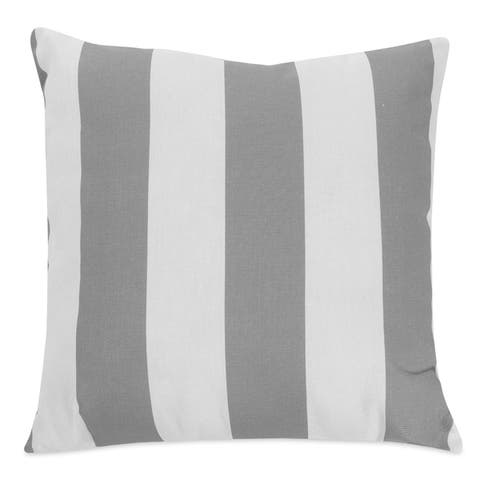 Majestic Home Goods Outdoor Vertical Stripe Extra Large Throw Pillow