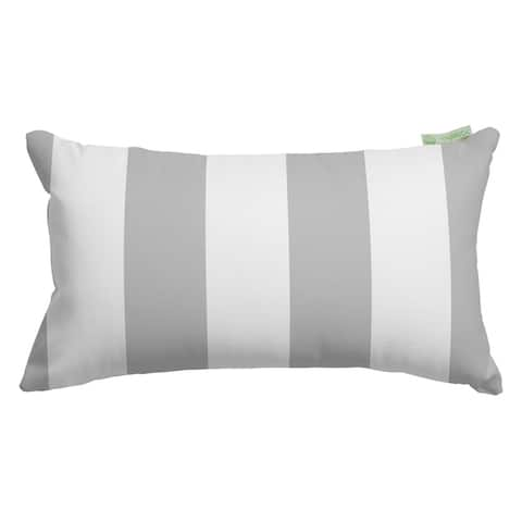 Majestic Home Goods Indoor Outdoor Vertical Stripe Small Decorative Throw Pillow 20 X 12