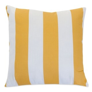 """Majestic Home Goods Yellow Vertical Stripe Indoor / Outdoor Large Pillow 20"""" L x 8"""" W x 20"""" H"""