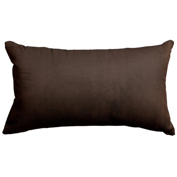 Majestic Home Goods Indoor Dark Brown Faux Suede Small Decorative Throw Pillow 20 X 12