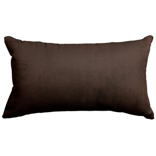 Majestic Home Goods Chocolate Velvet Small Pillow 12 x 20