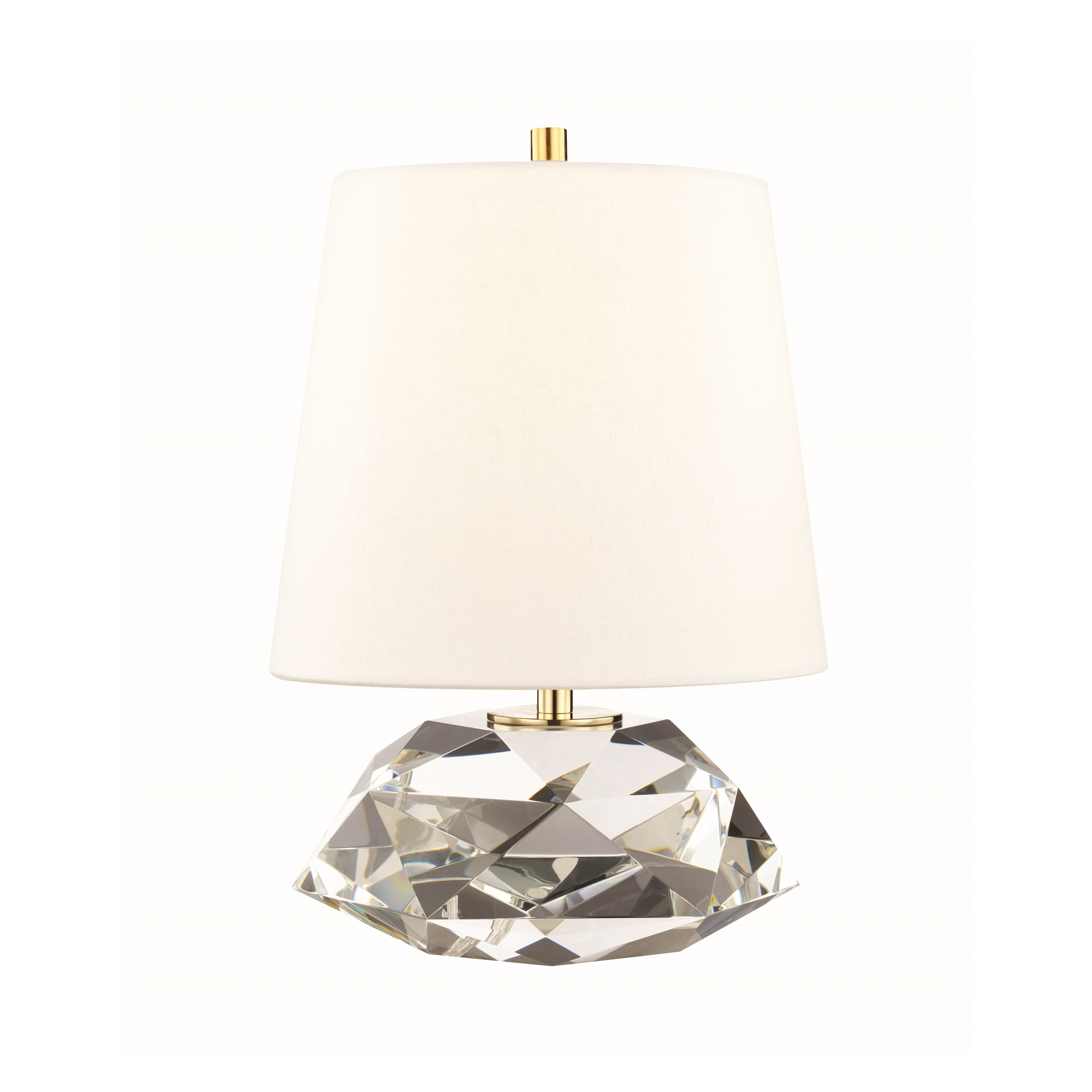 Picture of: Hudson Valley Henley 1 Light Clear Small Table Lamp With Aged Brass Accent Overstock 22277203