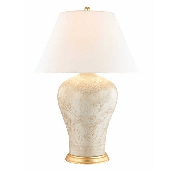 Hudson Valley Plutarch 1-light Antique Relief Table Lamp with Aged Brass Accent. Opens flyout.