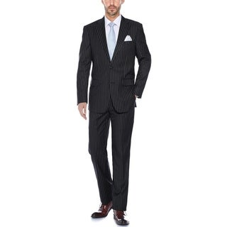 Verno Men's Classic Fit Pinstripe 2-Piece Suit (Jacket and Pants)