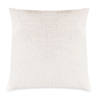 Majestic Home Goods Solid Cream Sherpa Extra Large Pillow 24 x 24