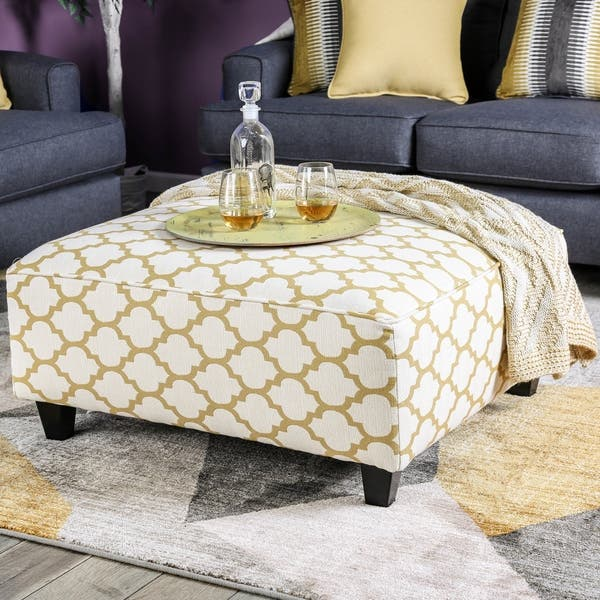 Fantastic Shop Tristan Contemporary Yellow Moroccan Print Square Alphanode Cool Chair Designs And Ideas Alphanodeonline