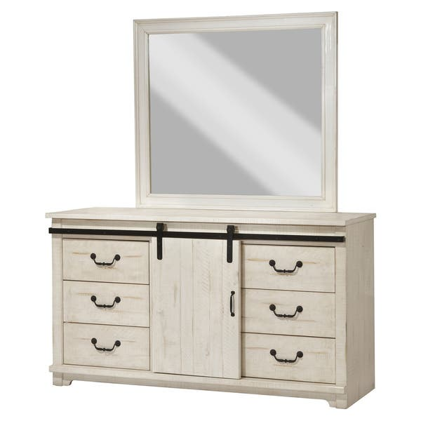 Coastal Farmhouse Solid Wood 9 Drawer Dresser With