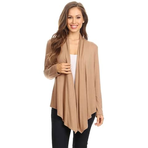 Women's Trendy Fitted Relaxed Open Cardigan