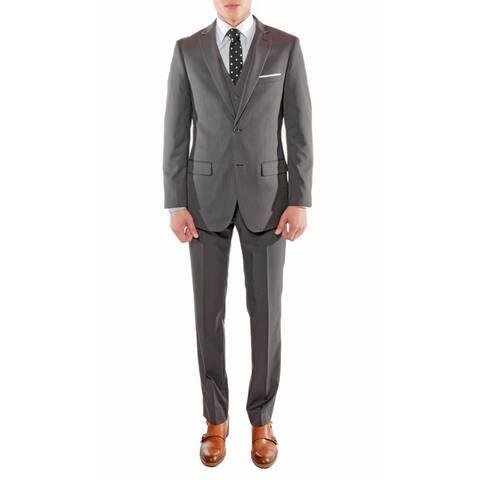 Ferrecci Stylish Slim Fit 3pc Suit Jacket with Vest and Dress Pants