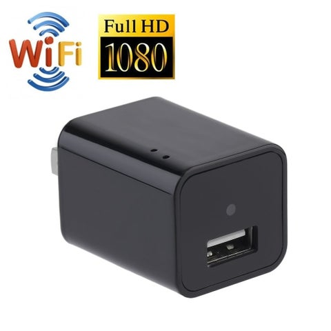 Motion Detection 1080P WIFI HD Hidden Camera Charger Adapter Video Recorder