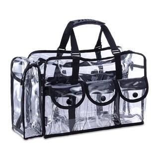 KIOTA Makeup Artist Clear Cosmetic & Beauty Storage Set Bag Organizer - Black
