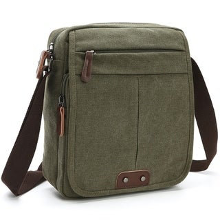 Dasein Vintage Unisex Canvas Messenger Bag/Cross body with Front Snap Flap (More options available)