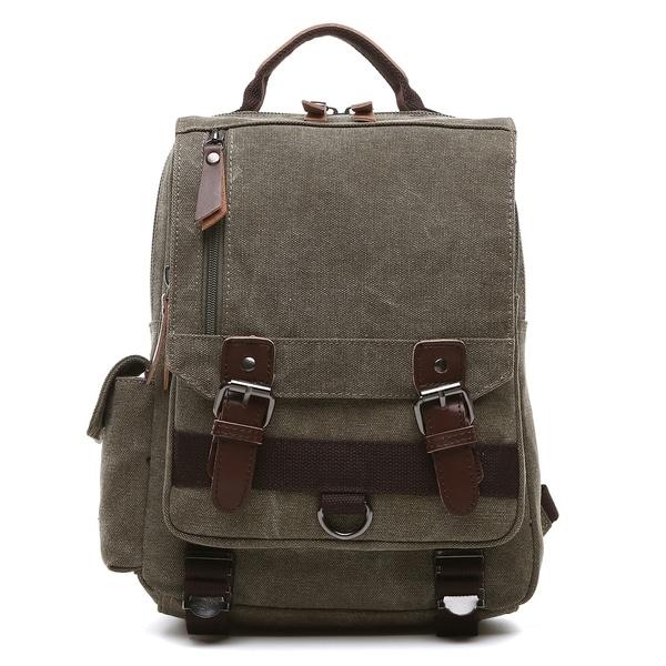 ae1df01362 Women s Lifetime Leather Medium Sling Bag. Dasein Vintage Unisex Medium  Size Canvas Backpack- Single strap Sling Bag