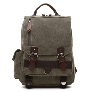 Dasein Vintage Unisex Medium Size Canvas Backpack- Single strap/Sling Bag
