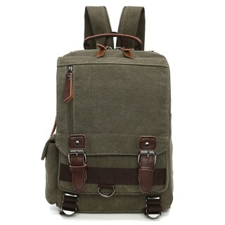 Dasein Vintage Unisex Medium size Canvas Backpack-Double strap