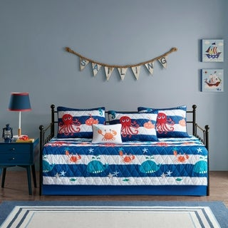 Mi Zone Kids Under the Sea Blue 6 Piece Daybed Set