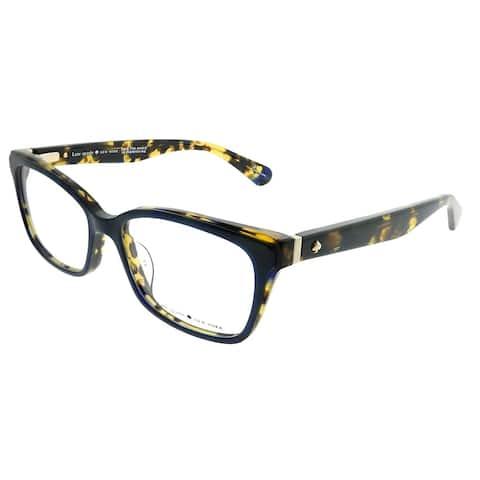 Kate Spade Rectangle KS Jeri JBW Women Blue Havana Frame Eyeglasses