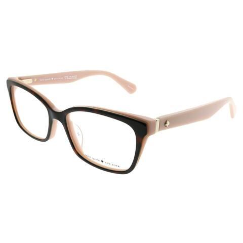 Kate Spade Rectangle KS Jeri OO4 Women Havana Red Coral Frame Eyeglasses